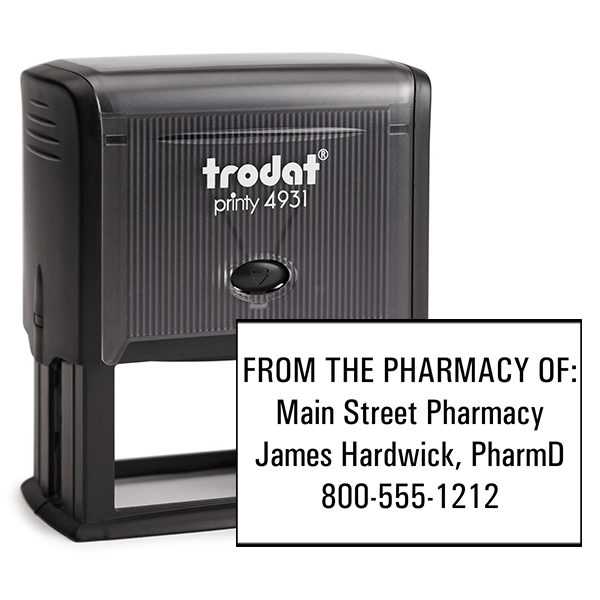 Custom From the Pharmacy of Rubber Stamp