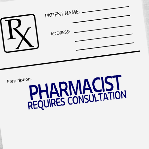 Pharmacist Requires Consultation Rubber Stamp Imprint Example