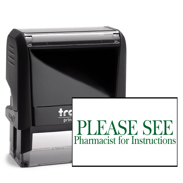 Please See Pharmacist Rubber Stamp