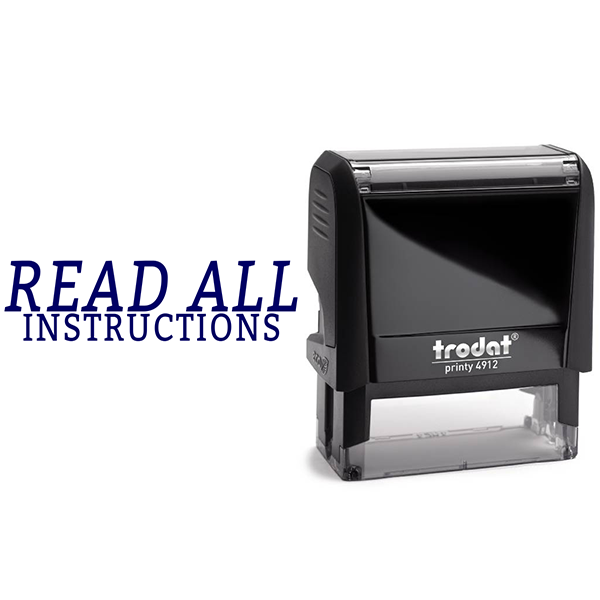 Read All Instructions Rubber Stamp Body and Design