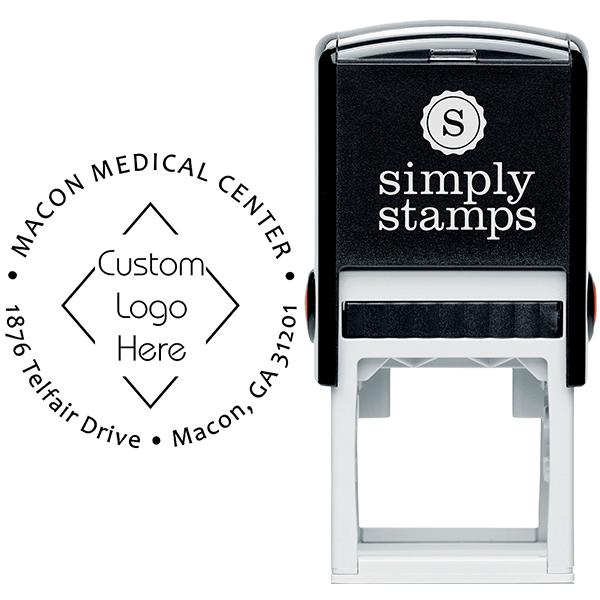 Custom Round Medical Logo Address Stamp Body and Design