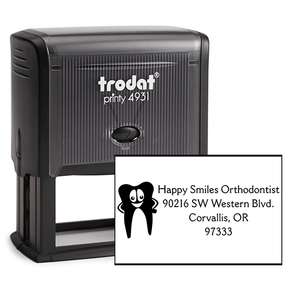 Dental Tooth Return Address Stamp