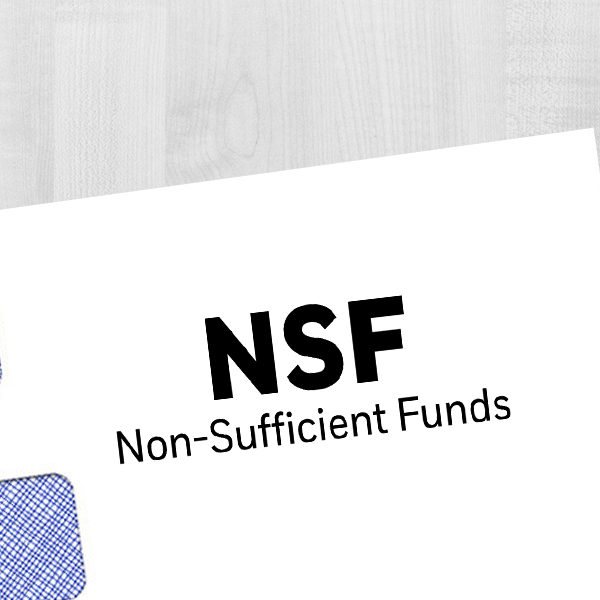 NSF Nonsufficient Funds Rubber Stamp Imprint Example