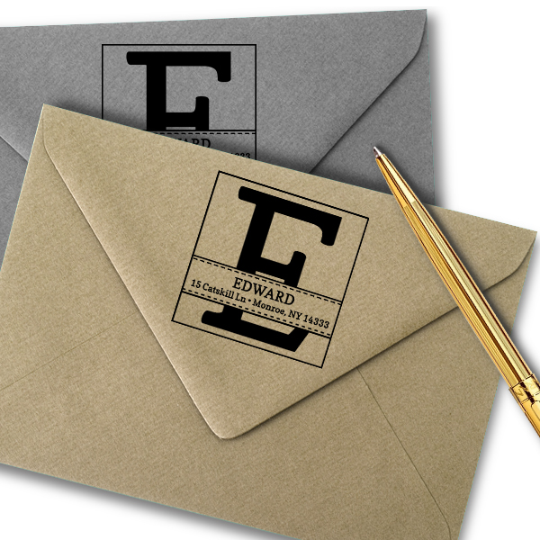 Edward Address Stamp Imprint Example
