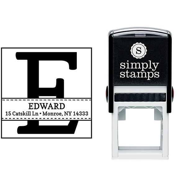 Edward Address Stamp Body and Design