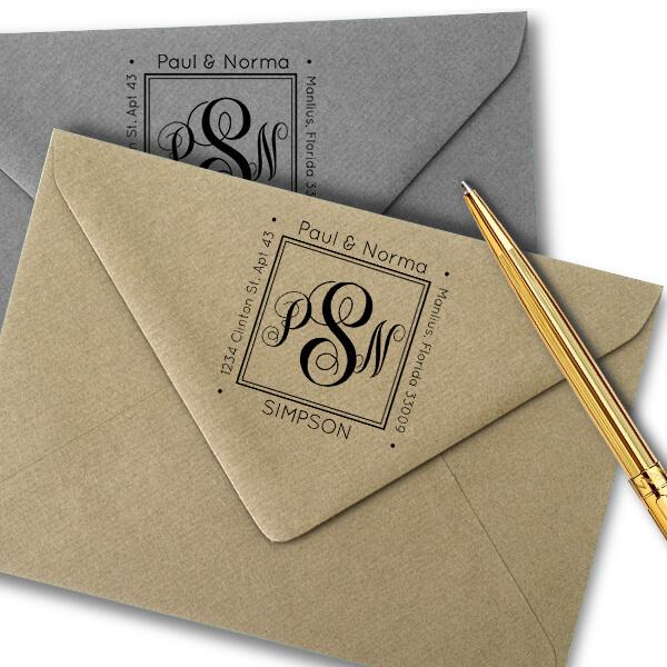 Simpson Square Address Stamp Imprint Example