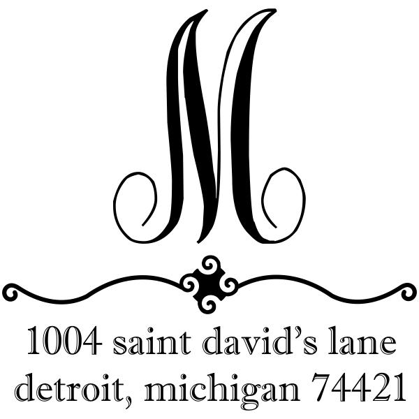Michigan Elegant Script Address Stamp