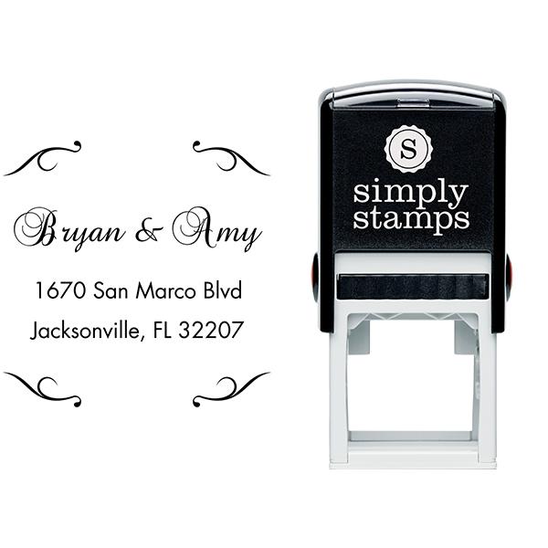 Victorian Deco Custom Address Stamp Body and Design