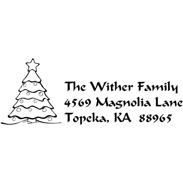 Merry Christmas Tree return stamp