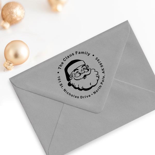 Classic Santa Custom Return Address Stamp Imprint Example