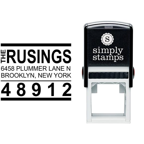 Brooklyn Style Return Address Stamp Body and Design
