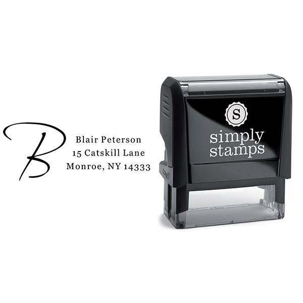 Script Initial Return Address Stamp Body and Design
