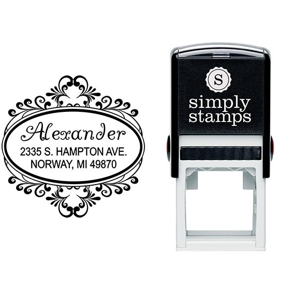 Alexander Oval Address Stamp Body and Design