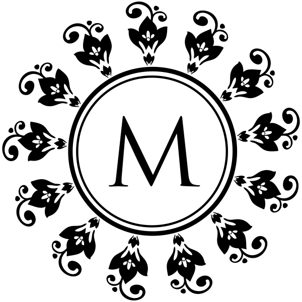 Ornamental Monogram Stamp