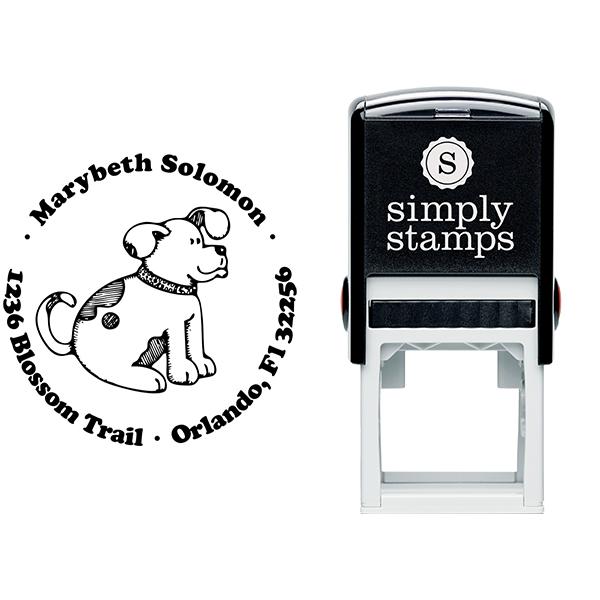 Spotted Dog Return Address Stamp Body and Design