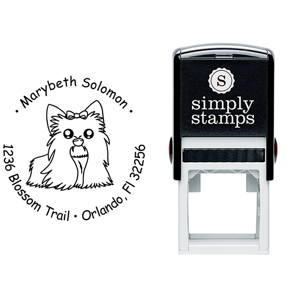 Shih Tzu Dog Return Address Stamp Body and Design