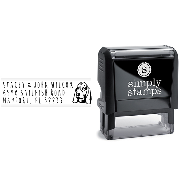 Basset Hound Dog Address Stamp Body and Design