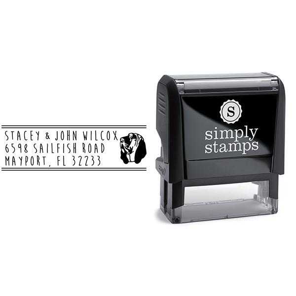 Bloodhound Dog Address Stamp Body and Design