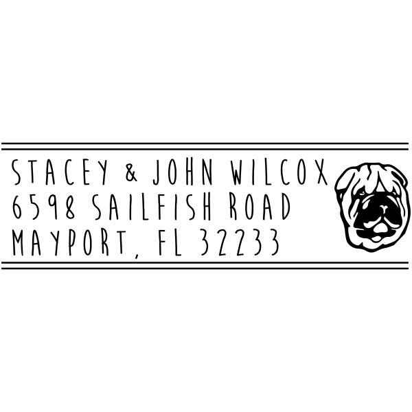 Shar-Pei Dog Address Stamp