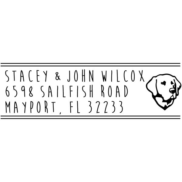 Labrador Retriever Address Stamp
