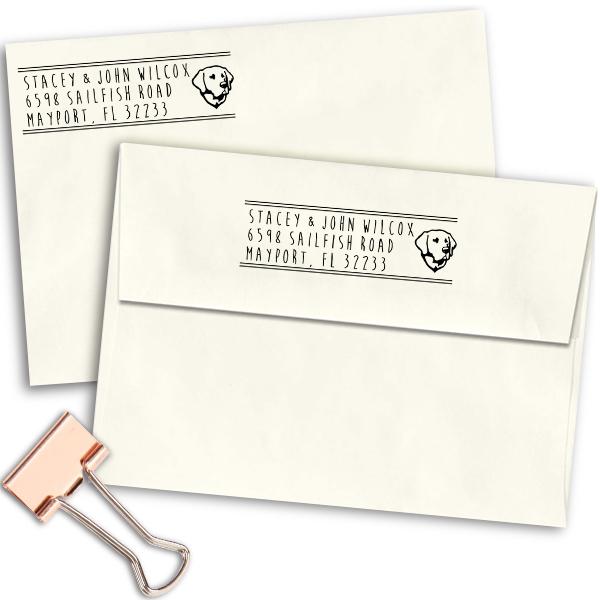 Labrador Retriever Address Stamp Imprint Example