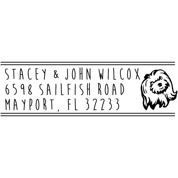 Shih Tzu Dog Address Stamp