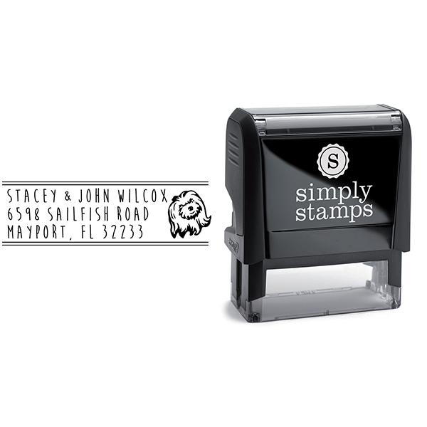 Shih Tzu Dog Address Stamp Body and Design