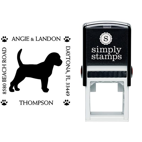 Beagle Pet Lover Dog Return Address Stamp Body and Design