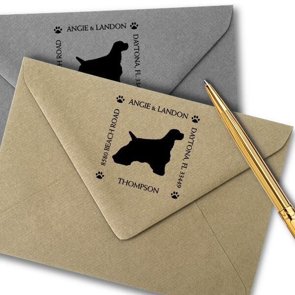 Cocker Spaniel Pet Lover Dog Return Address Stamp Imprint Example