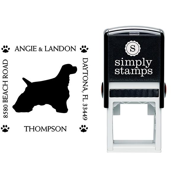 Cocker Spaniel Pet Lover Dog Return Address Stamp Body and Design