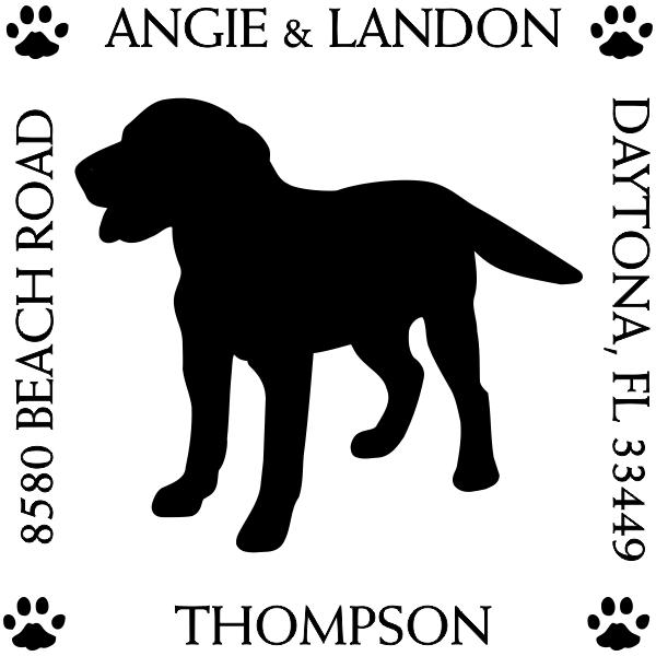 Labrador Retriever Dog Return Address Stamp