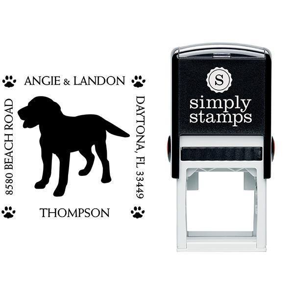 Labrador Retriever Pet Lover Dog Address Stamp Body and Design
