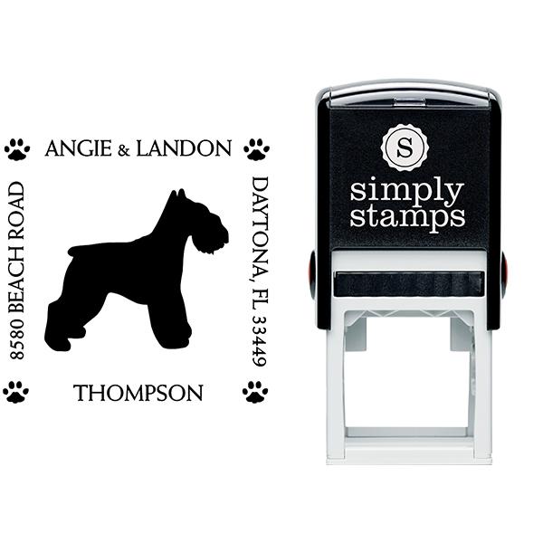 Schnauzer Pet Lover Dog Return Address Stamp Body and Design