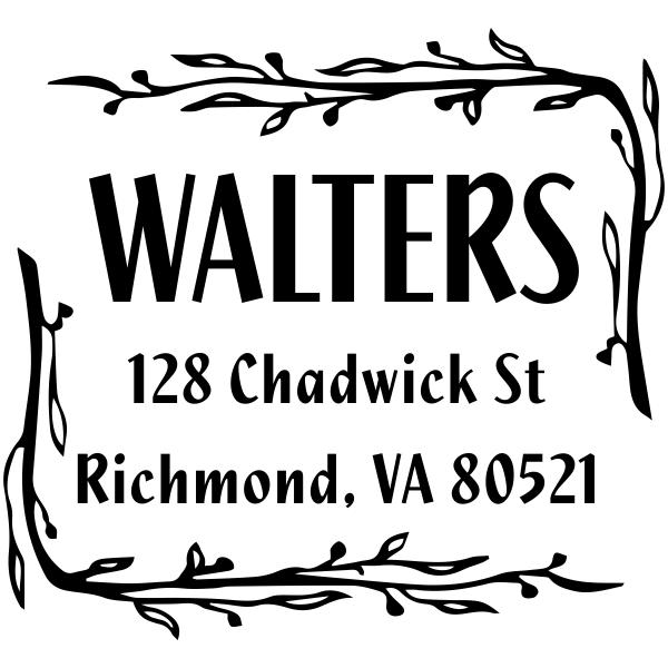 branch rubber address stamp