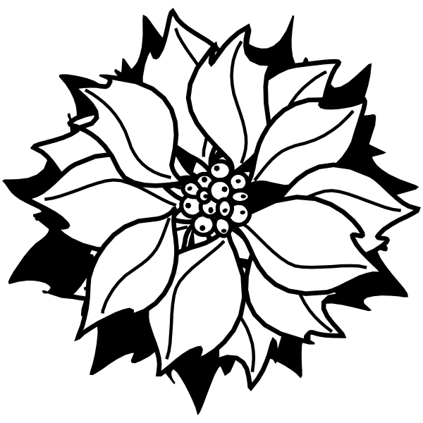 Holiday Poinsettia Flower Stamp
