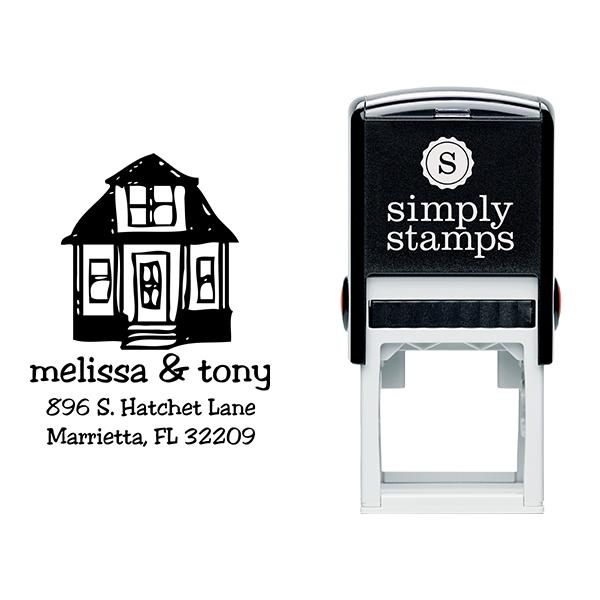 Little House Return Address Stamp Body and Design