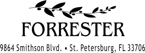 Forrester Leafy Vine Custm Return Address Stamper