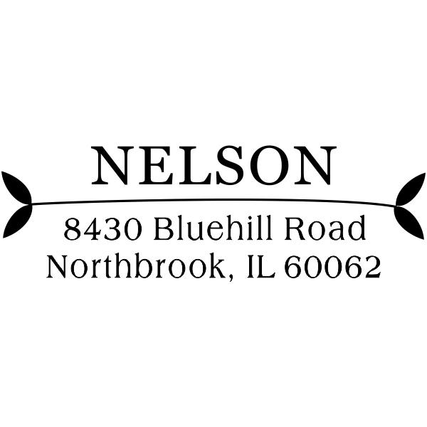 Nelson Leafy Ends Address Stamper