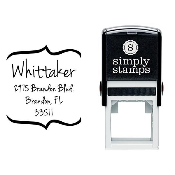 Whittaker Bracket Return Address Stamp Body and Design