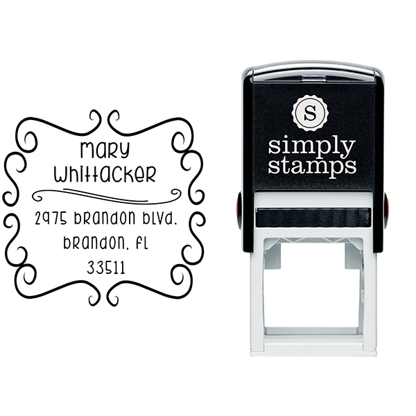 Whittaker Whimsical Return Address Stamp Body and Design