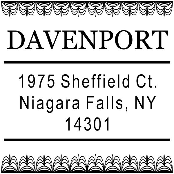 Davenport Deco Custom Address Stamp