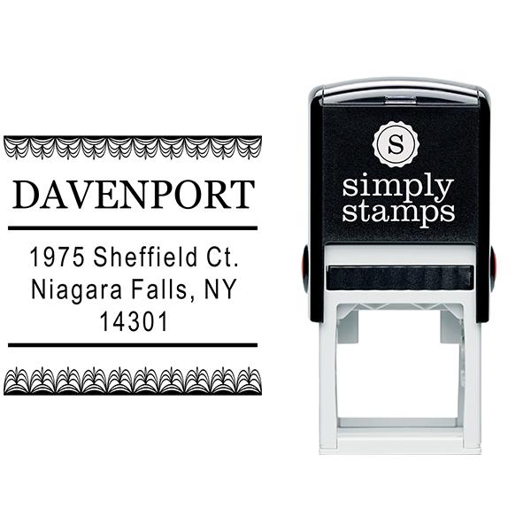 Davenport Deco Curtain Address Stamp Body and Design