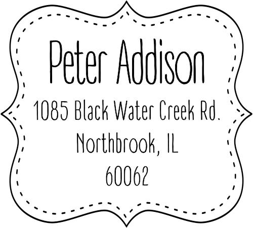 Addison Stitched Border Address Stamp