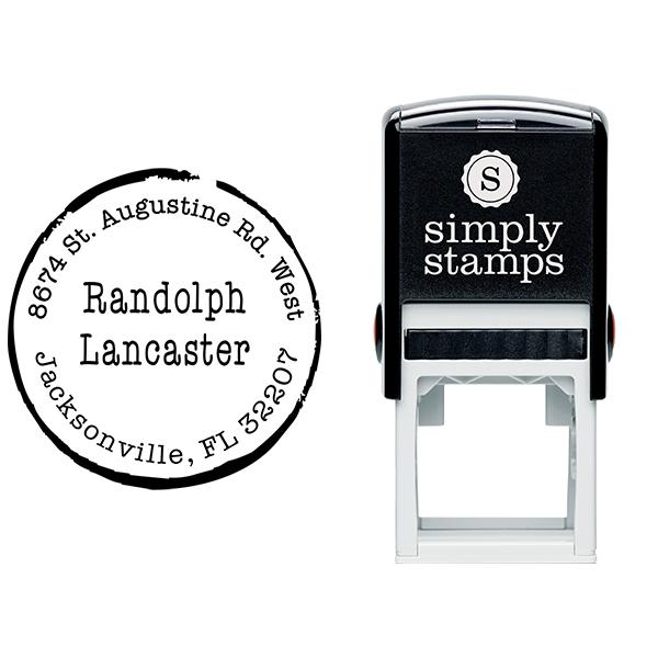Lancaster Round Border Address Stamp Body and Design