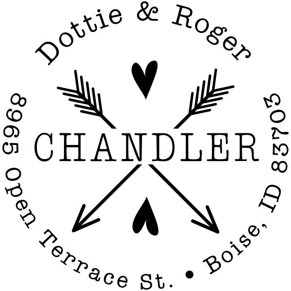 Chandler Arrows Return Address Stamper