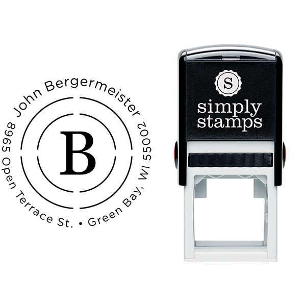 Bergermeister Orbit Return Address Stamp Body and Imprint