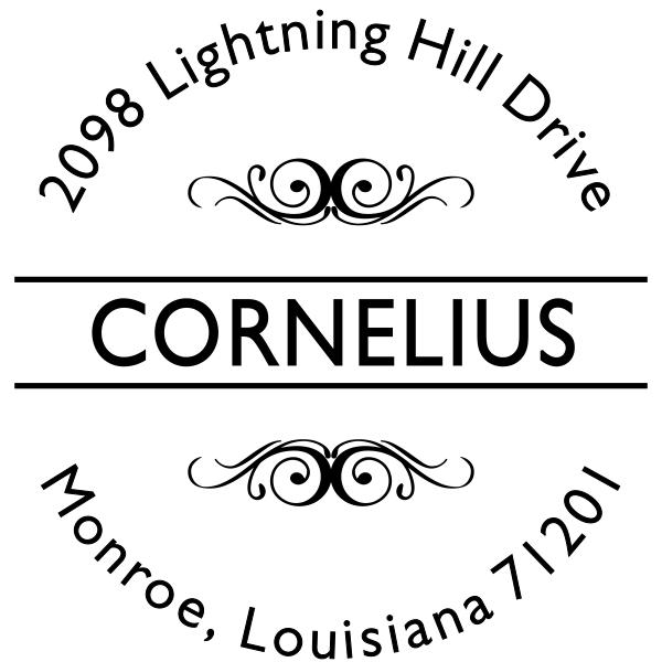 Cornelius Deco Address Stamp