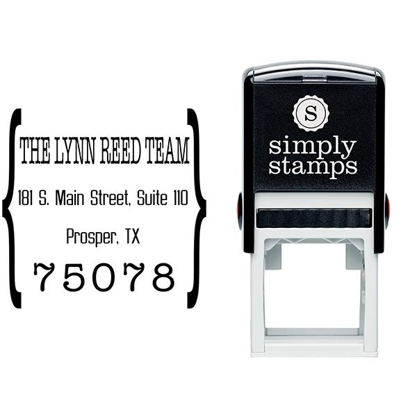 Quote Square Return Address Stamp Body and Design