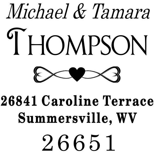 Full of Hearts Return Address Stamp