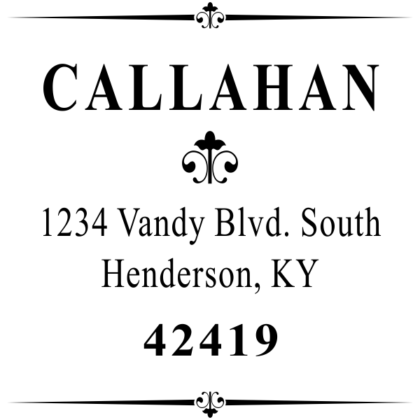 Couple first & Last name return address stamp